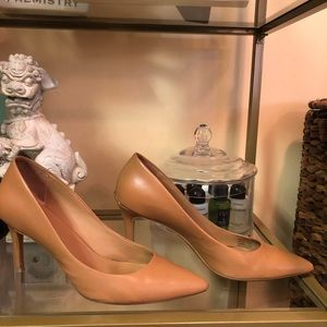 Calvin Klein Nude Heel Pumps with gold size 8.5